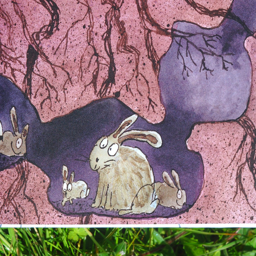 rabbit square 40cm